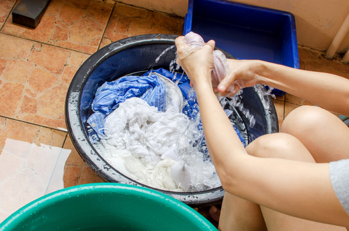 シャンプーで洗濯