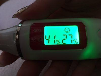 ストレピア使用2日目で肌弾力と水分量が一気にアップ!