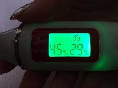 ストレピア使用4日目で油分量は適正な範囲に!