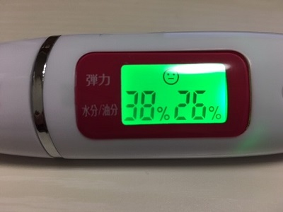 ルルルン プレシャスクリーム使用5日目:併用するのを止めると数値は元通りに