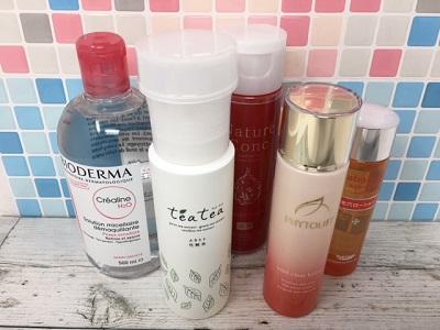 売れ筋ふきとり化粧水を5種類使ってみた感想