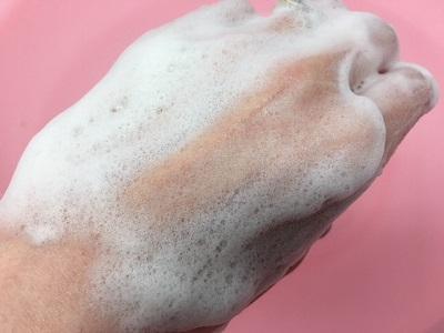 PGCD 洗顔石鹸の洗い上がり