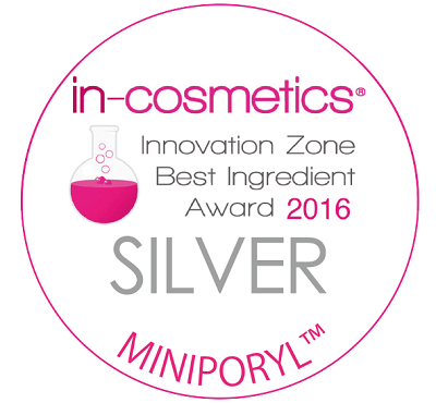 in-cosmetics globalで銀賞を受賞したミニポリルでハリを与えキメを整える