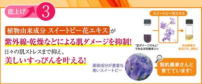 スイートピー花エキスが紫外線・乾燥のダメージを抑制する