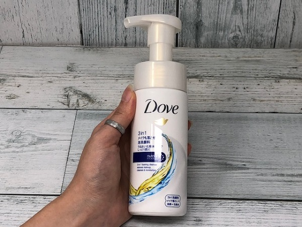 ユニリーバ・ジャパン:Dove(ダヴ)3in1メイクも落とせる洗顔料