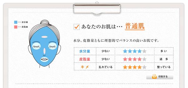 山田養蜂場オンラインお肌チェックの結果は?