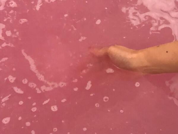 LUSH(ラッシュ)セクシー・ダイナマイト入浴前と入浴後の表面体温変化