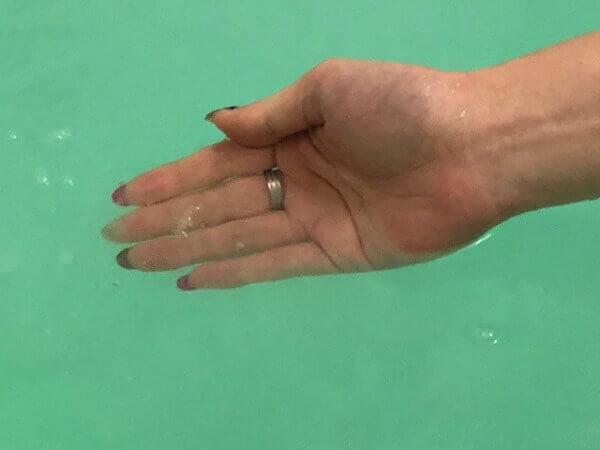 炭酸力のバブ メディケイティッド入浴前と入浴後の表面体温変化