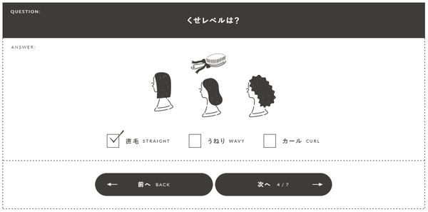 MUDULLA(メデュラ)オーダー③:髪の毛のくせレベルは?