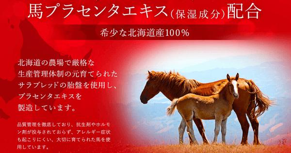 希少な北海道産の馬プラセンタエキス100%